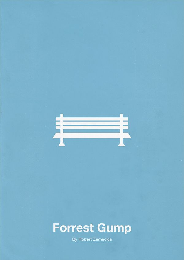 Forrest Gump Minimalist Poster Design. 12 Minimalist Movie Poster Designs by Eder Rengifo. #minimalism #movie #posters