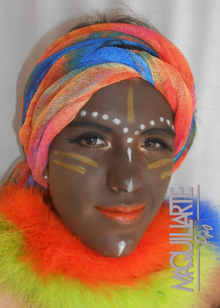 Creando piel negra, estilo africano