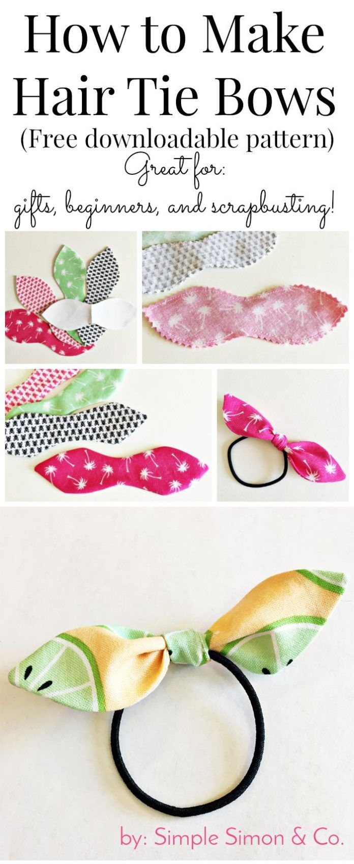 DIY Crafts : How to make hair ties with fabric – a free tutorial to make knotted hair tiesRobbie Honnoll