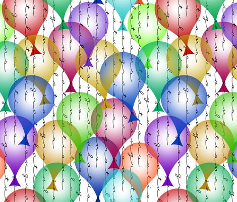 congratulations balloons fabric by weavingmajor on Spoonflower - custom fabric