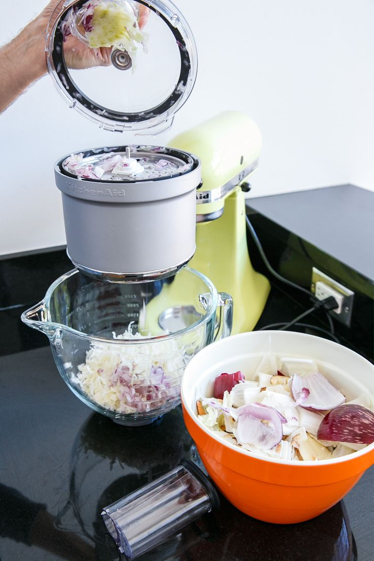 Forget making traditional coleslaw when you have these Seriously Awesome Slaws from @loveandoliveoil on our blog. Use the KitchenAid® Food Processor Attachment for the Stand Mixer to make these amazing slaw recipes.