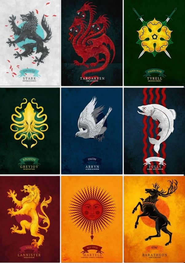 House sigils...not sure on who made them
