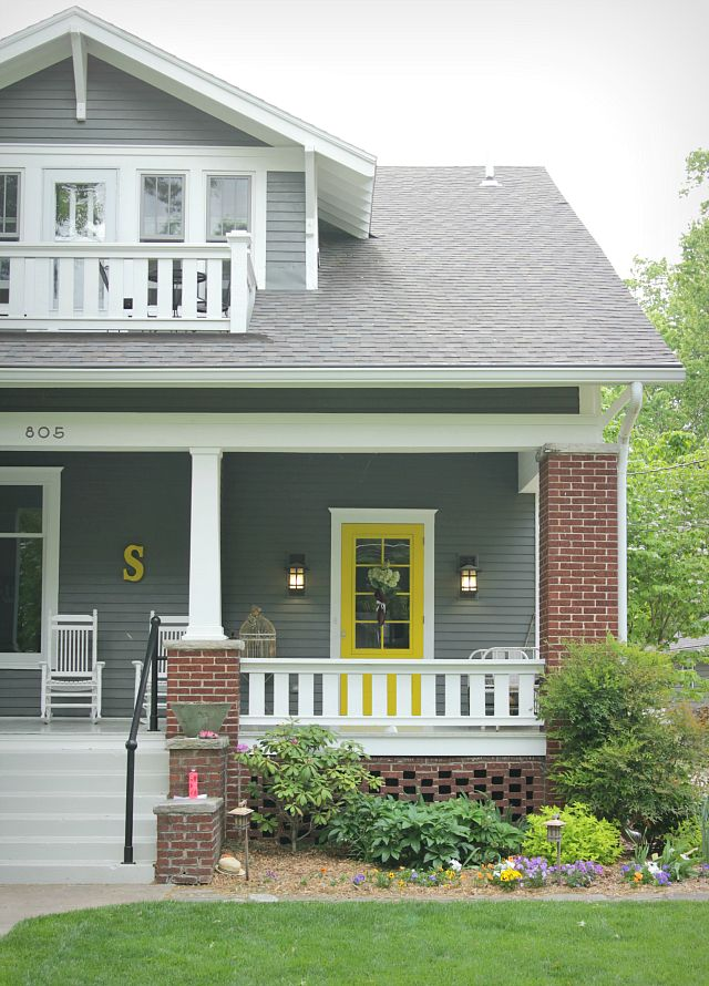 Best 25 Yellow Front Doors Ideas On Pinterest Cottage Exterior Gray Front Door Colors And