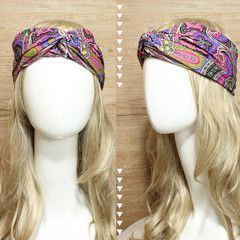 Purple Paisley Headband Turban • idr 65,000 or $6.5 • FREE shipping around Indonesia • worldwide shipping • LINE : reginagarde • shop online www.reginagarde.com