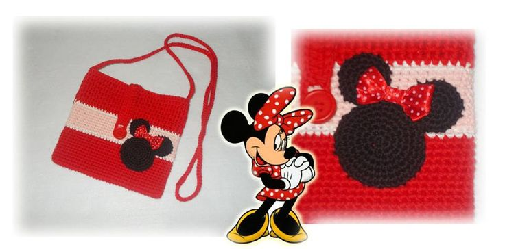 crochet bag - minie mouse