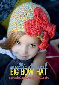 free crochet hat and bow pattern