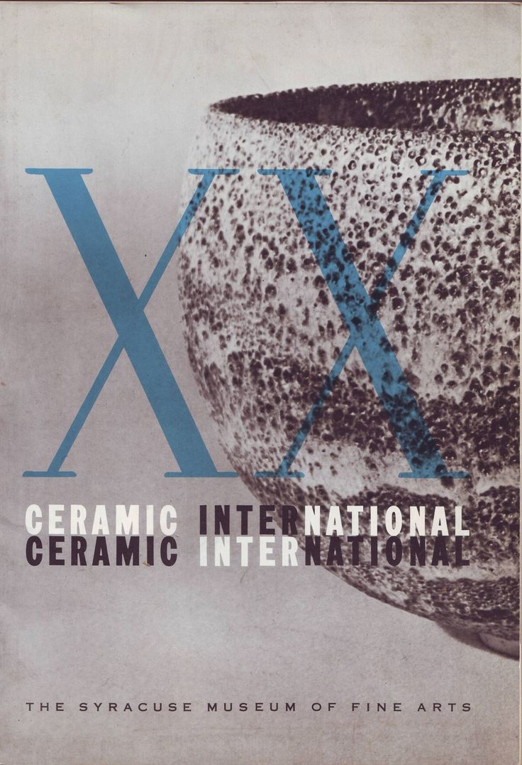 XX Ceramic international New York 1958