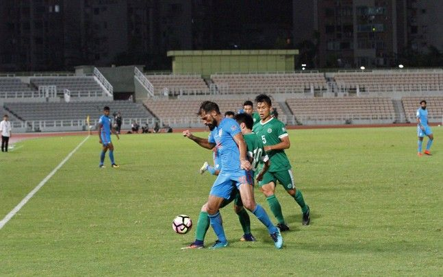 """India took a giant step towards qualification for the Asian Football Confederation (AFC) Asian Cup, to be held in the United Arab Emirates (UAE) in 2019, registering a 2-0 win over Macau in an away match at the Olympic Stadium here on Tuesday. In a one-sided contest, substitute Balwant Singh scored a brace with a … Continue reading """"India Beat Macau In AFC Asian Cup Football Qualifier"""""""