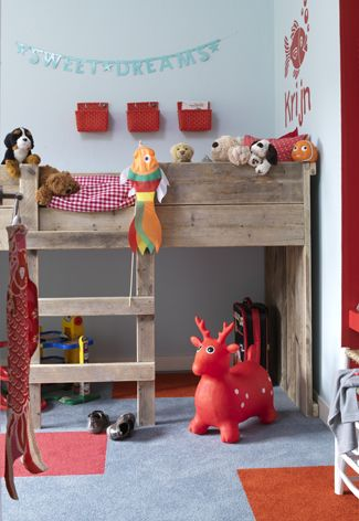 cute kid loft bed