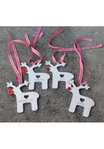 Wooden Reindeer Christmas Tree Decorations
