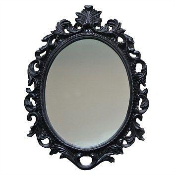 Mirrors - Decorative & Standard - Briscoes - Kerridge Baroque Mirror Black 460x330
