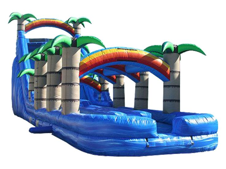 Cheap 24FT Tropical Dual Lane Water Slide For Sale,Buy & Wholesale Commercial Giant Outdoor Adult Inflatable Slide