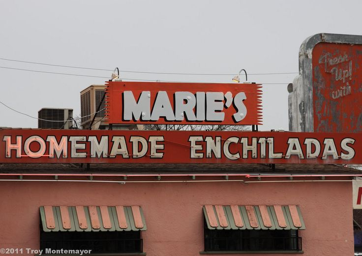 A neon sign advertising Marie's in Merced, California  Facebook | Fine Art America | 500px