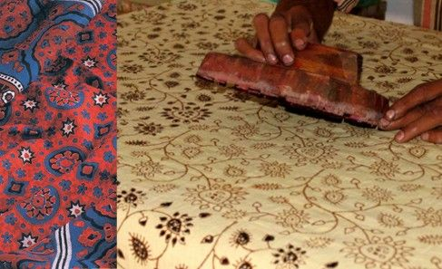 """The term """"Ajrak"""", may be derived from """"Azrak"""", meaning blue in Arabic, as blue happens to be the one of the principal colours in Ajrak printing. More than a fabric, Ajrak is a Sindhi tradition; found in daily usage such as hammocks and bedsheets to duppattas, scarves, and even gifts as a token of respect. The highly valued Ajrak has also been made in Kutch for the Maldharis or cattle herders' communities since the time Khatris migrated from Sindh in the 16th century."""