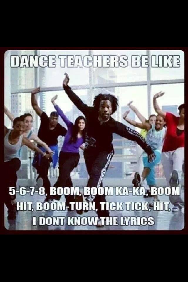Dance humour www.dancerockit.com #DanceRockIt #Humour