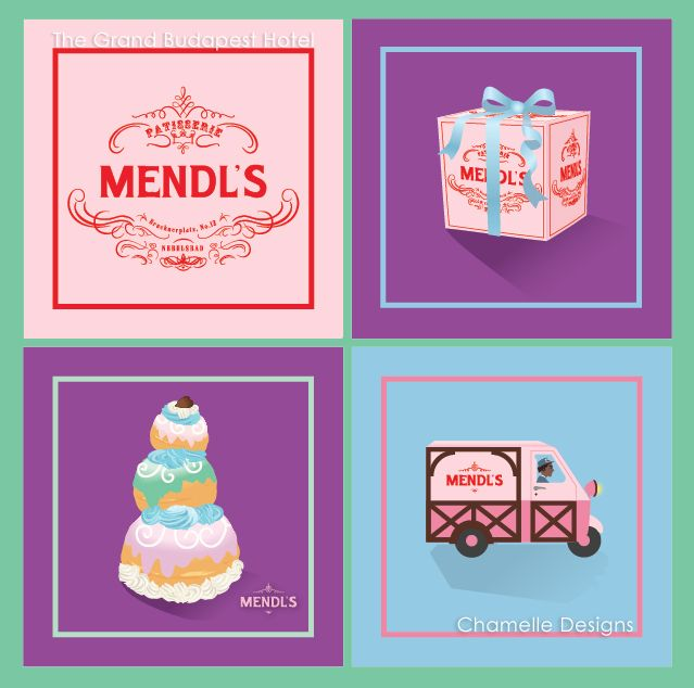 Wes Anderson Cake Boxes