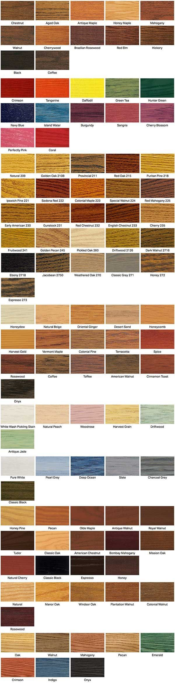 wood floor stain colors from Minwax by Indianapolis hardwood floor service