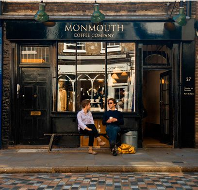 Monmouth Coffee-- Covent Garden. They have big tables and encourage you to sit at tables with strangers. Met some interesting people that way!