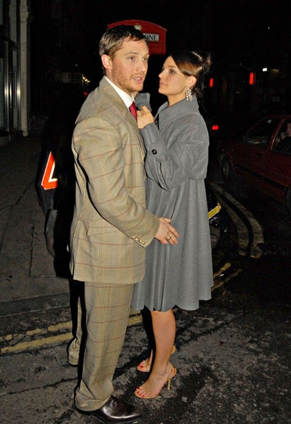 Tom Hardy & Rachael Speed in Leaving Groucho Club - London 2009, March 10 - Bronson Premiere