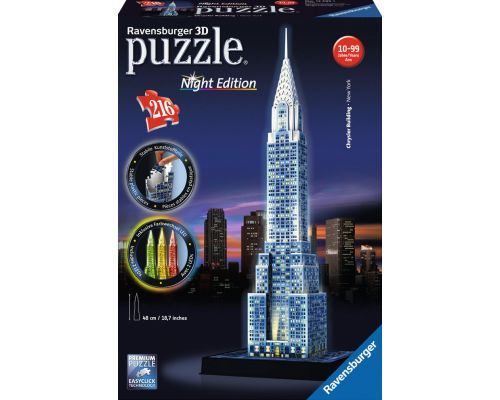 Puzzle Ravensburger Chrysler Building Night Edition 3D 216 Pieza