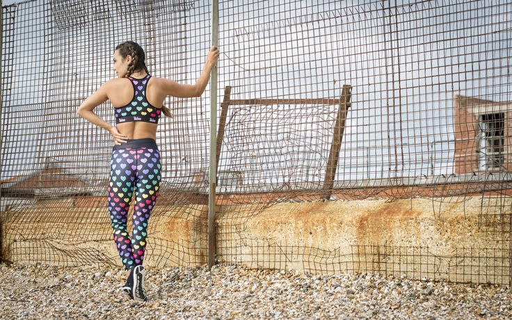 Tikiboo Heart Print Activewear #Activewear #Gymwear #FitnessLeggings #Leggings #Tikiboo #RainbowPrint #Running #Yoga #Heart #Hearts