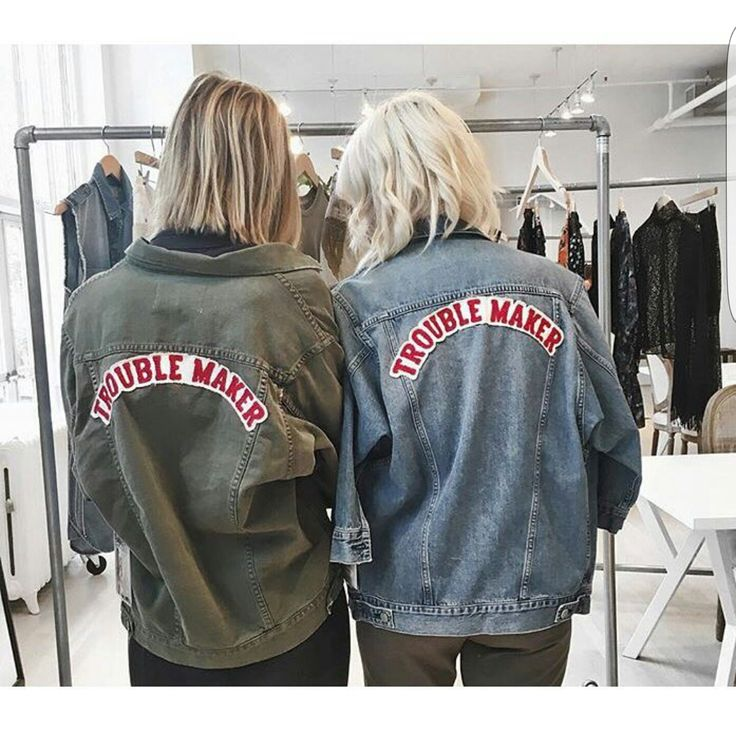 when your jean jacket says it all #troublemaker