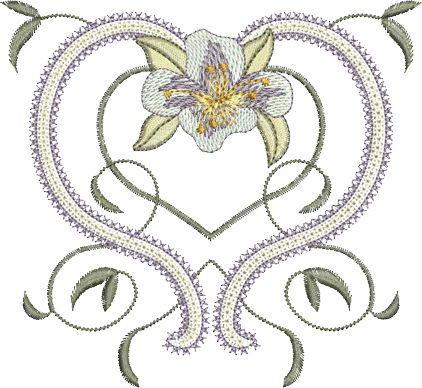 Sue Box Creations | Download Embroidery Designs | 25 - Azalea Design