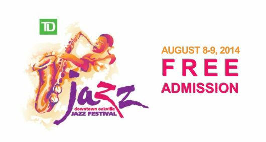 Oakville Jazz Festival, August 8-9, Free Admission