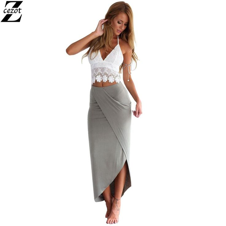CeZot Sexy Party Dresses Women party Dress backless Summer Dress Europe spring and summer lace halter split irregular pencil