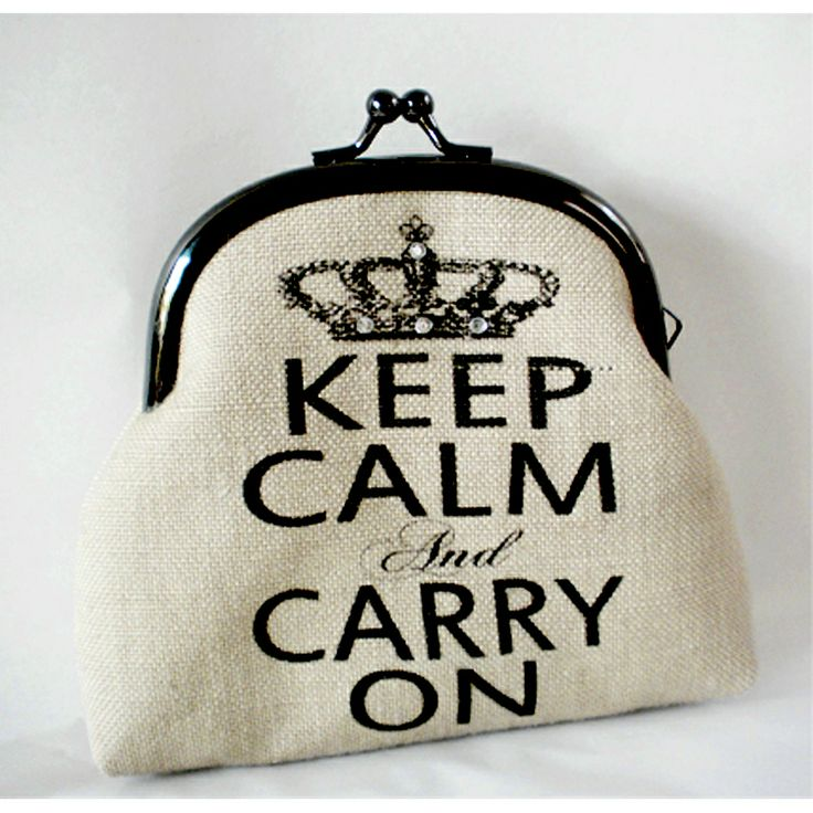 "Sjoti ""Keep Calm"" Frame Purse"