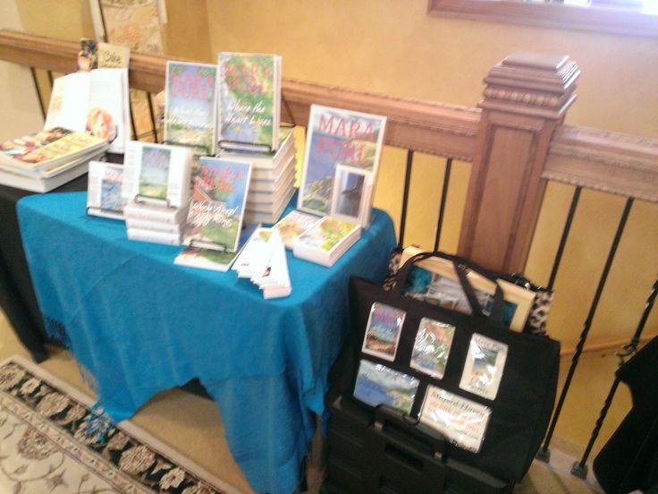 Author U Autumn Tea (c) - Milford-Haven Novels display.