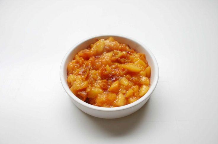 Pudding z Tapioki z Glazurowanymi Brzoskwiniami www.ajslifebook.com