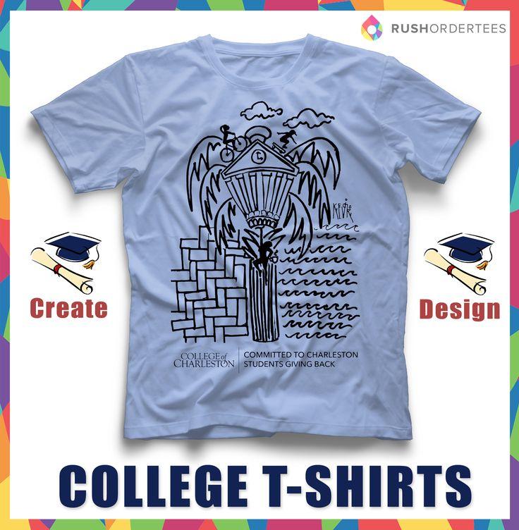 "Find A Professional T Shirt Designer To: Find More College T-Shirt Designs In Our ""College T-Shirt"