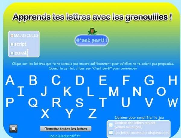 jeux en ligne pour apprendre l'alphabet