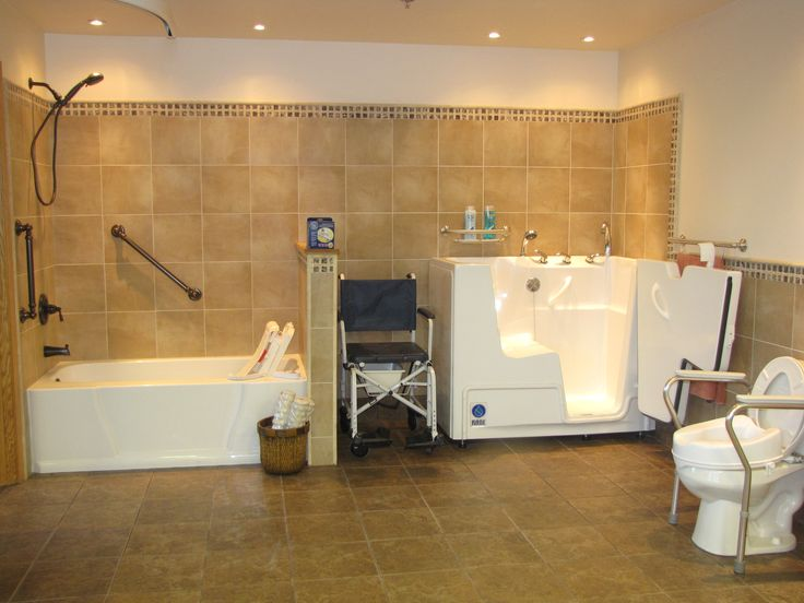 home bathroom modifications for seniors handicappedbathrooms find more accessible living tips at httpwwwdisabledbathroomsorguniversal des