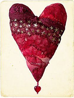 Red Heart - something about the layered use of fabrics and the stitching that appeals to me.
