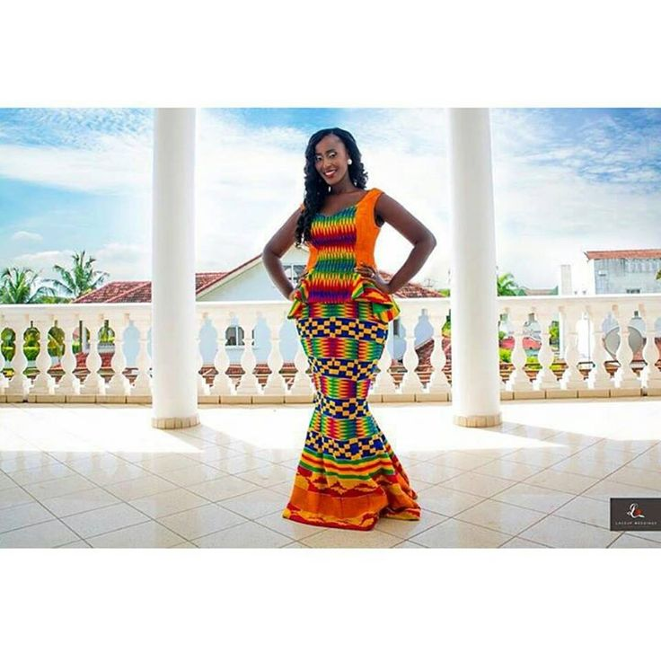 Ghanaian brides are embracing bolder colours for their traditional marriage