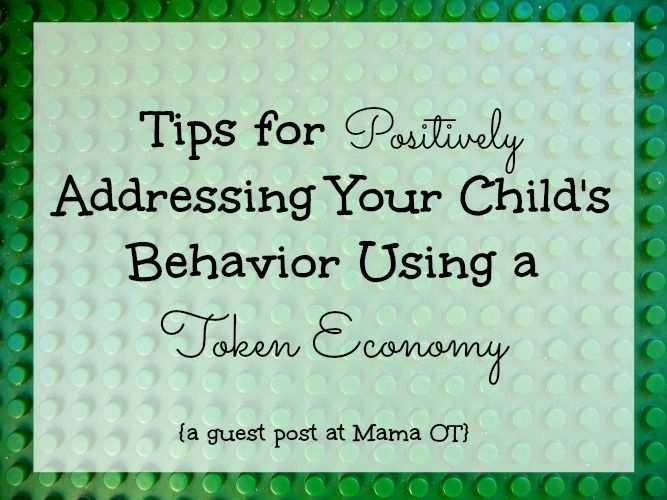Great tips from a behavior analyst for how to positively address a child's behavior using a token economy.