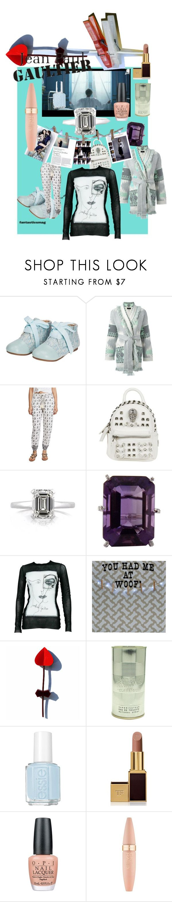"""""""JeanPaul G"""" by erggoe ❤ liked on Polyvore featuring Alanui, Cool Change, Philipp Plein, Mark Broumand, Jean-Paul Gaultier, Melannco, Essie, Tom Ford, OPI and Maybelline"""