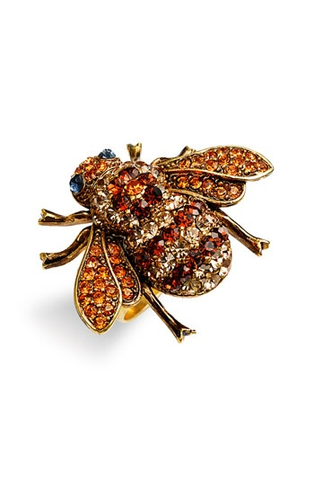 bee cocktail ring: Bee Sknees, Animal Brooches, Bees Fly, Bee Brooches, Bees Bees Bees, Bees 4 Jewelry