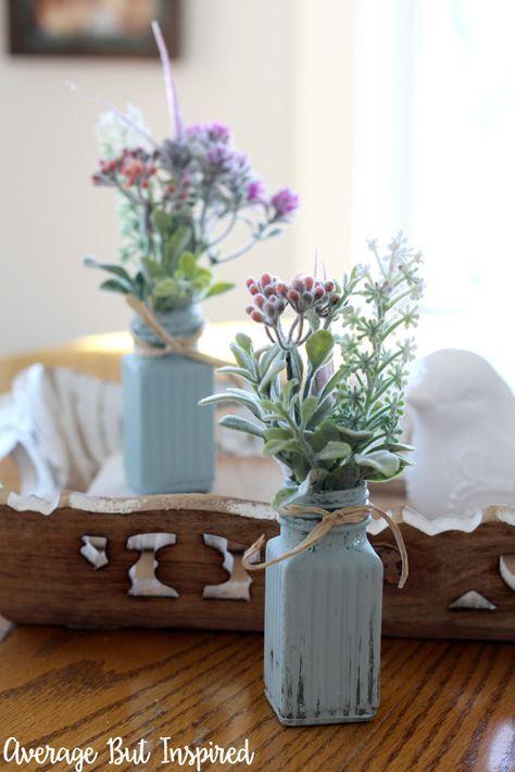 Dollar Store DIY Salt and Pepper Shaker Bud Vases DIY Pinterest
