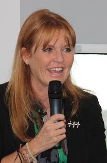 Sarah, Duchess of York (Sarah Margaret; née Ferguson; born 15 October 1959)in Leeds 2008.jpg