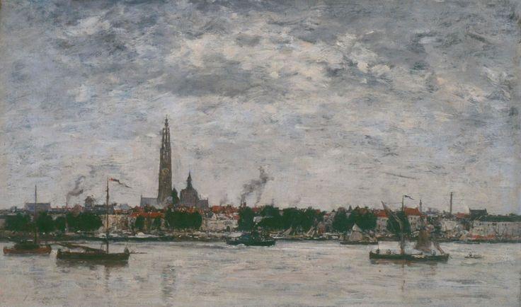 Eugène Boudin - Port d'Anvers (1871)