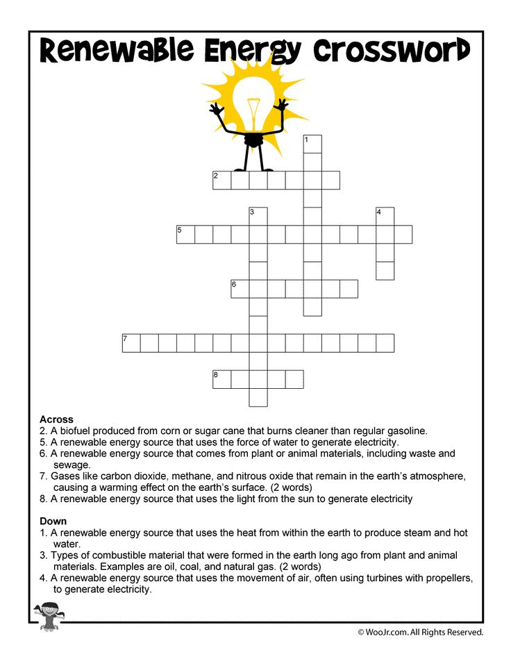 Clean Energy Crossword Worksheet For Kids Renewable Energy Lessons Renewable Energy Activities Renewable Sources Of Energy