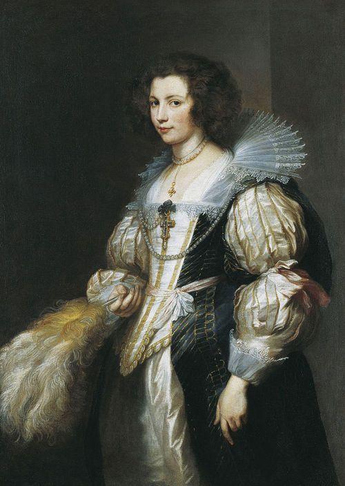 """""""Portrait of Marie-Louise de Tassis"""" by Anthony van Dyck, ca 1630, Fürstlich Lichtensteinische Gemäldegalerie"""