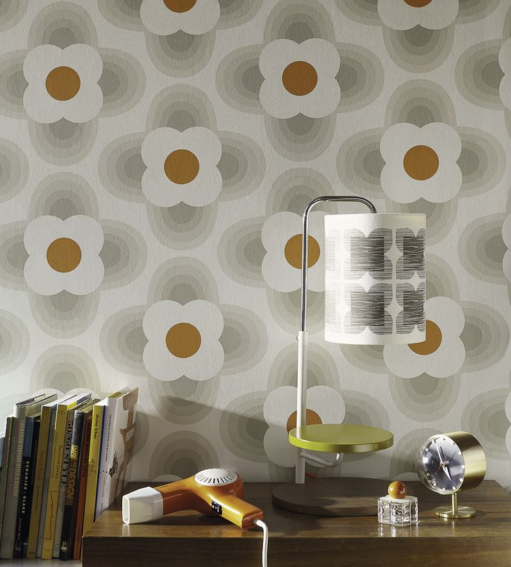 70s Interior Design Revival | Striped Petal Wallpaper by Harlequin | Jane Clayton