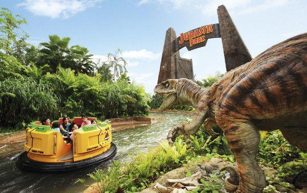 #jurassic Park ride at Universal Studios #Singapore @Resorts Honeymoon Destination Weddings World Sentosa Singapore #dinosaur