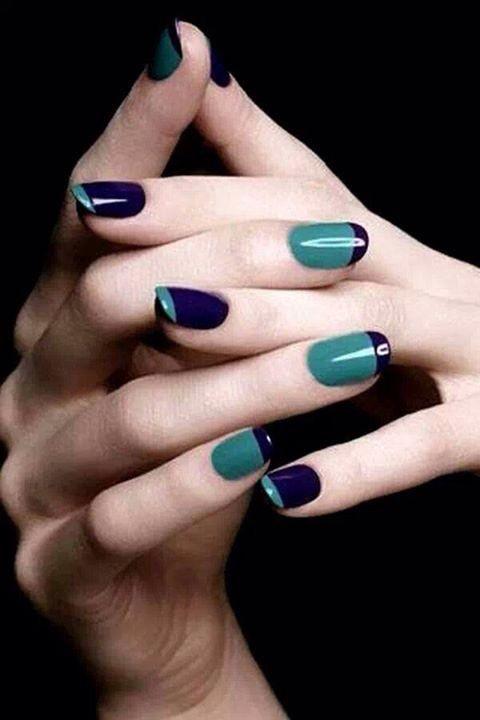 藍綠配色有種知性的氣質