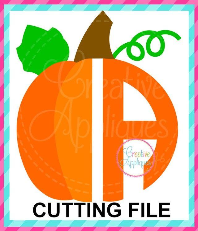 creativeappliques posted to Instagram: Pumpkin Alphabet