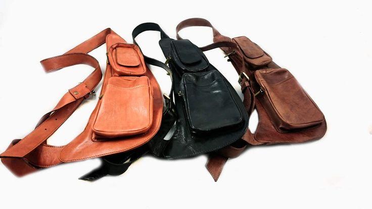 Outdoor Men's  Leather Shoulder Bag Sling Chest Bag Crossbody Hiking bag Cool Small Backpack Messenger Bag by CactusLeatherLondon on Etsy https://www.etsy.com/hk-en/listing/384436328/outdoor-mens-leather-shoulder-bag-sling